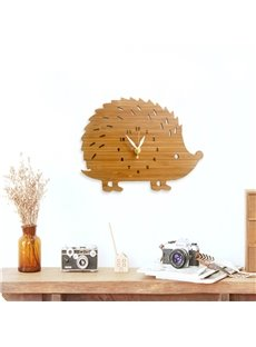 Fancy Creative Cute Hedgehog Shape Design Mute Battery Decorative Wall Clock