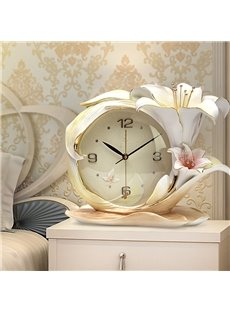 Elegant Handmade Three-dimensional Embossment Design Mute Battery Wall Clock