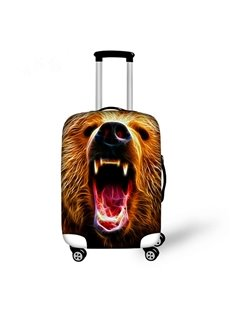 Bear Face Pattern 3D Painted Luggage Cover
