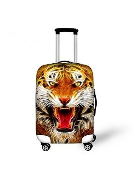 Cool Angry Tiger Pattern 3D Painted Luggage Cover
