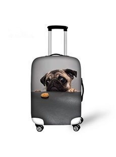 Adorable Dog Pattern 3D Painted Luggage Cover
