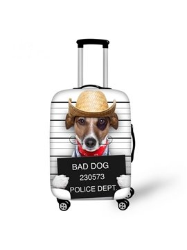 Cool Dog with Hat Pattern 3D Painted Luggage Cover