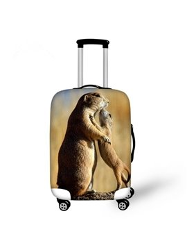 Adorable Hug Animals Pattern 3D Painted Luggage Cover