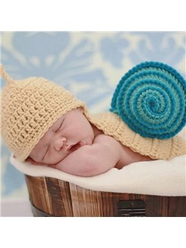 Vivid Snail Design Multicolor Option Knit Baby Cloth Photo Prop
