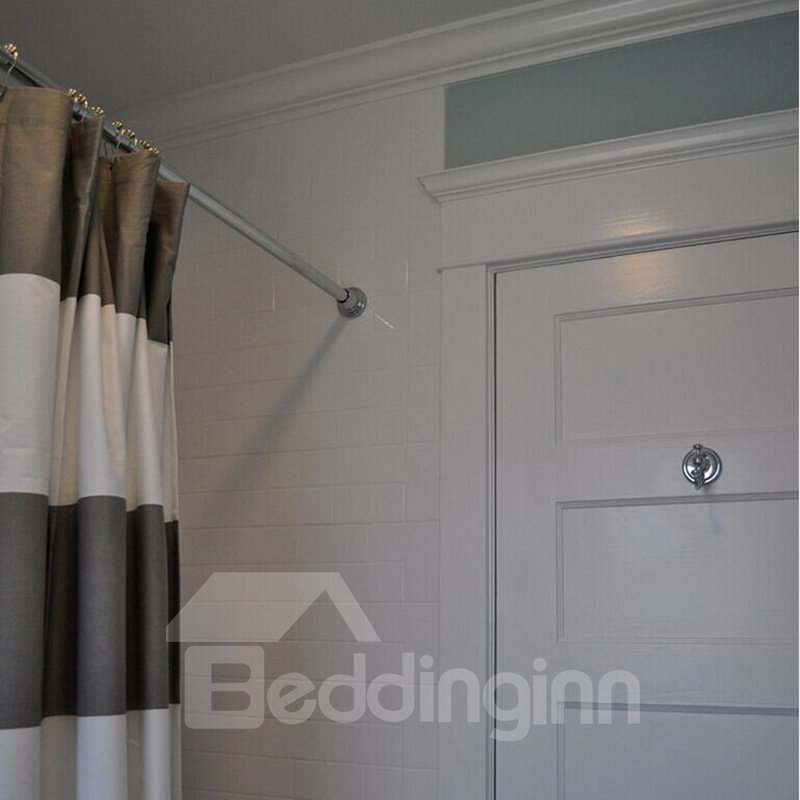 Elegant 43 Inches to 75 Inches Stainless Steel Tension Bathroom Shower Curtain Rod  beddinginn.com