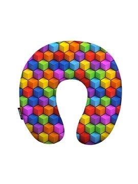 Fancy Geometric Print U-Shape Memory Foam Neck Pillow