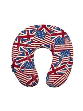Fashionable National Flag Print U-Shape Memory Foam Neck Pillow