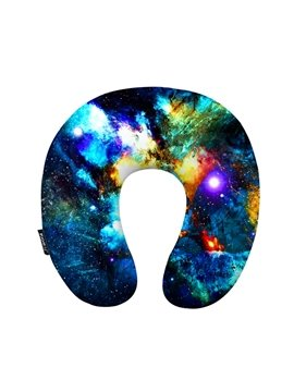 Romantic 3D Galaxy Print U-Shape Memory Foam Neck Pillow