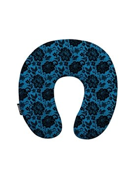 Retro Style Luxurious Arabesque Print U-Shape Neck Pillow