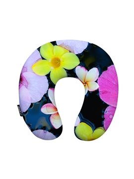 Bright Floral U-Shape Memory Foam Neck Pillow