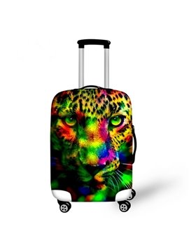 Cool Special Leopard Pattern 3D Painted Luggage Cover