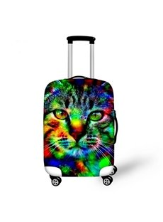 Colorful Cat Face Pattern 3D Painted Luggage Cover