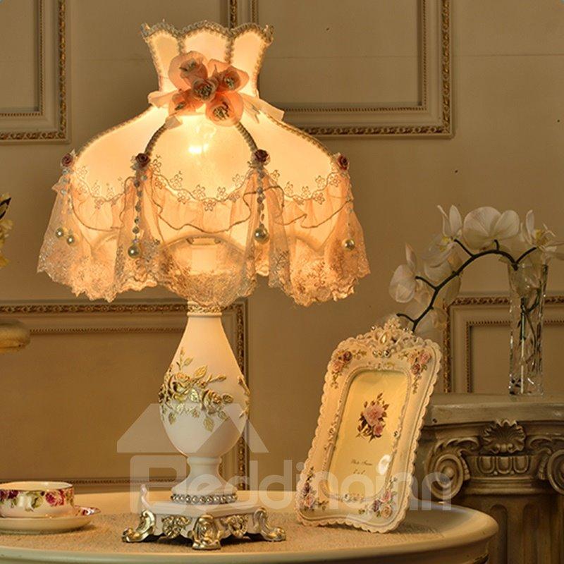 Lovely Modern Style Resin Flower Pattern Home Decorative Table Lamp