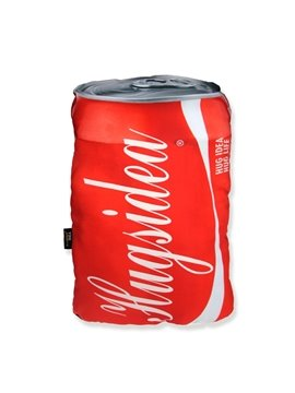 Chic Cola Can Design Decorative Throw Pillow