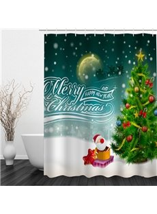 Lovely Merry Christmas Printing Bathroom 3D Shower Curtain