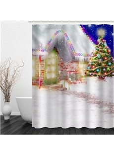 Dreamy Christmas Night Printing Bathroom 3D Shower Curtain