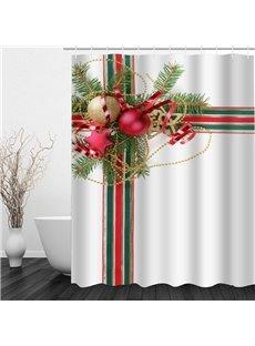Christmas Gift Printing Waterproof Bathroom 3D Shower Curtain
