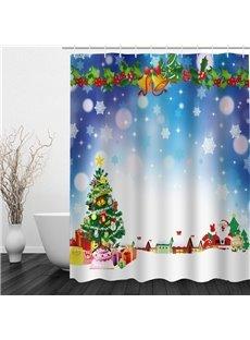 Dreamy Christmas Printing Bathroom 3D Shower Curtain