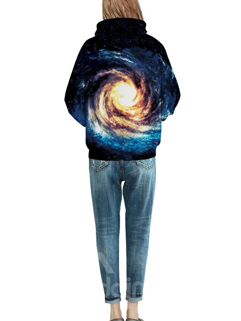 Amazing Long Sleeve Volution Galaxy Pattern 3D Painted Hoodie