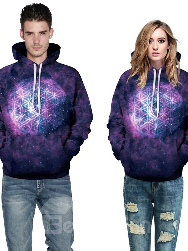 Special Long Sleeve Creative Pattern Galaxy Style 3D Painted Hoodie