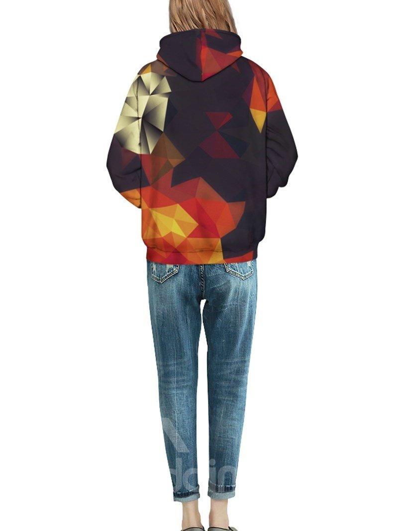 Creative Geometry Gradient Pattern 3D Painted Hoodie
