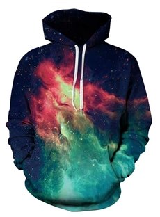 Popular Long Sleeve Galaxy Pattern 3D Painted Hoodie
