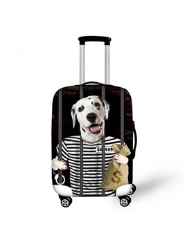 Kinds of Dogs in Cloth Pattern 3D Painted Luggage Cover