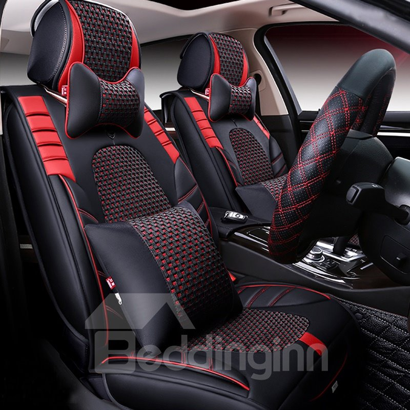 Beddinginn Durable Leather Material Five Universal Car Seat Cover High Grade
