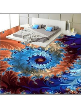 Charming Modern Design Creative Flower Pattern Waterproof Splicing 3D Floor Murals