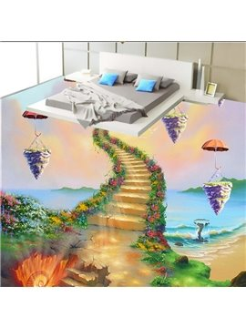 Vivid Unique Design Ladder to Heaven Pattern Waterproof Splicing 3D Floor Murals