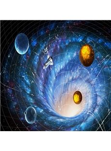 Stunning Planets in Galaxy Pattern Home Decorative Waterproof 3D Floor Murals