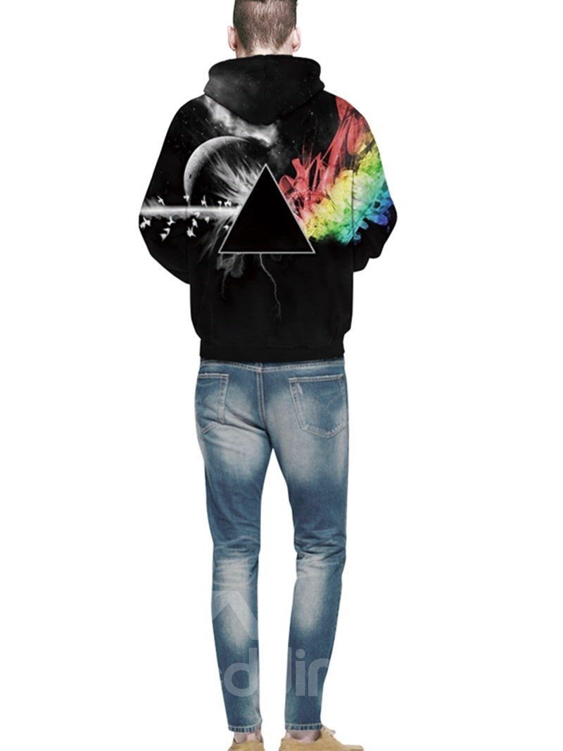 Cool Long Sleeve Creative Pattern 3D Painted Hoodie