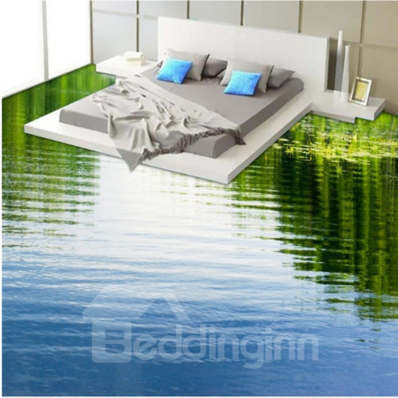Calm limpid lake print design home decorative waterproof for Floor prints
