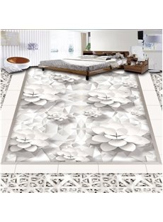 White European Style Flower Pattern Home Decorative Waterproof 3D Floor Murals