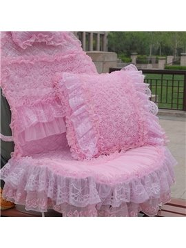 New Beautiful Rose Design With Lace Style Multi-Functional Use Car Pillow