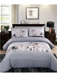 3D_Husky_Puppies_Digital_Printing_5Piece_Comforter_Sets