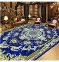 European Style Flower Print Area Rug Design Waterproof 3D Floor Murals
