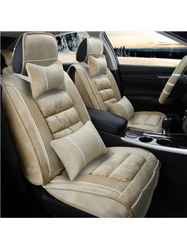 Comfortable And Elegant Extra Thick Velvet Material Universal Fit Car Seat Cover