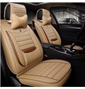 New 3D Stereoscopic PU Leather Material Universal Five Car Seat Cover