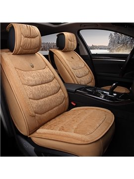 Comfortable Velvet Material Fashional Solid Design Universal Five Car Seat Cover