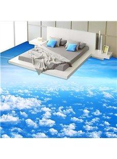 Blue Sky and White Cloud Pattern Nonslip and Waterproof 3D Floor Murals