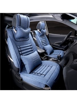 Three-Dimensional Unique Design Good Permeability Flax Universal Car Seat Cover