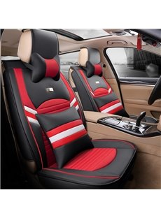 Fashion Contrast Color Design Durable Leather Universal Car Seat Cover