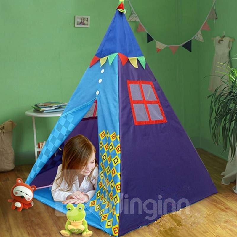 Cute Geometric Pattern Kids Indoor Tent Tepee