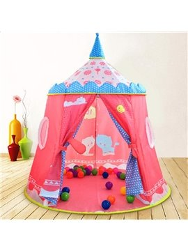 Lovely Pink Castle Design Kids Indoor Tent