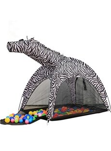 Creative and Funny Zebra Design Kids Indoor Tent