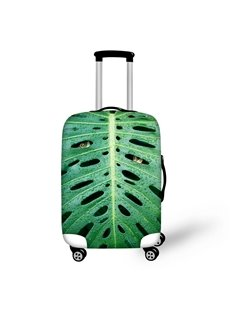 Vivid Frog in Leaf Pattern 3D Painted Luggage Protect Cover