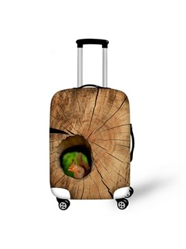 Little Squirrel in Tree Hole Pattern 3D Painted Luggage Protect Cover