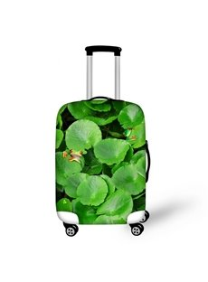 Frog in Lotus Leaf Pattern 3D Painted Luggage Protect Cover