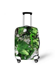 Green Lizard Pattern 3D Painted Luggage Protect Cover